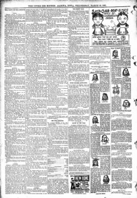 The Algona Upper Des Moines from Algona, Iowa on March 18, 1891 · Page 8