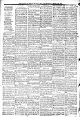 The Algona Upper Des Moines from Algona, Iowa on March 25, 1891 · Page 6