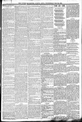 The Algona Upper Des Moines from Algona, Iowa on May 25, 1892 · Page 3