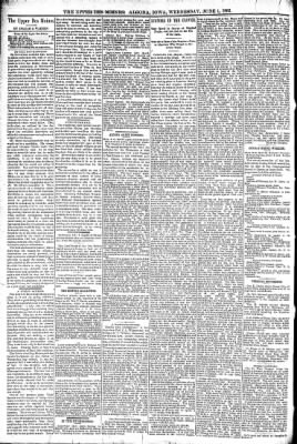 The Algona Upper Des Moines from Algona, Iowa on June 1, 1892 · Page 4