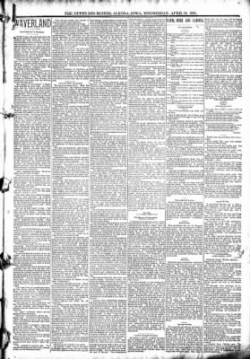 The Algona Upper Des Moines from Algona, Iowa on April 15, 1891 · Page 3