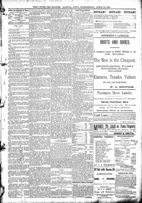 The Algona Upper Des Moines from Algona, Iowa on April 15, 1891 · Page 5