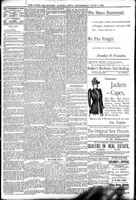 The Algona Upper Des Moines from Algona, Iowa on June 8, 1892 · Page 5