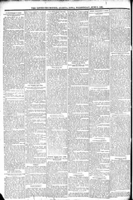 The Algona Upper Des Moines from Algona, Iowa on June 8, 1892 · Page 6