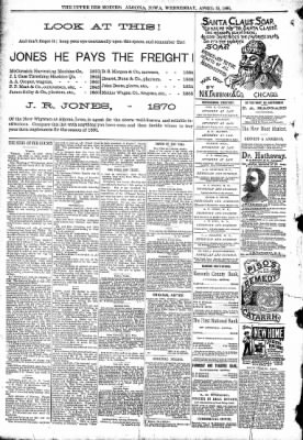 The Algona Upper Des Moines from Algona, Iowa on April 15, 1891 · Page 8