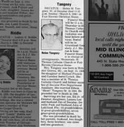 Helen Lynch Tangney Obit