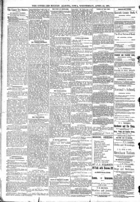 The Algona Upper Des Moines from Algona, Iowa on April 29, 1891 · Page 4