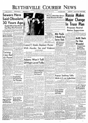 The Courier News from Blytheville, Arkansas on May 14, 1954 · Page 1