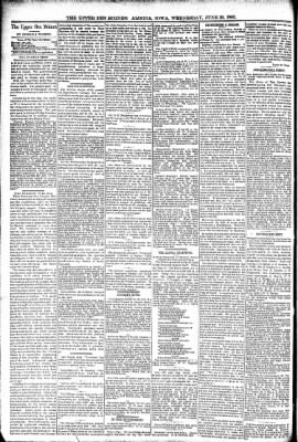 The Algona Upper Des Moines from Algona, Iowa on June 29, 1892 · Page 4