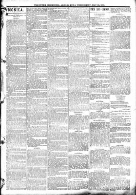 The Algona Upper Des Moines from Algona, Iowa on May 20, 1891 · Page 3