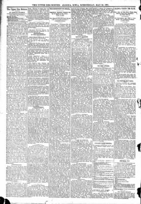 The Algona Upper Des Moines from Algona, Iowa on May 20, 1891 · Page 4