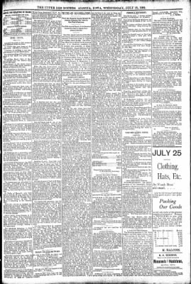 The Algona Upper Des Moines from Algona, Iowa on July 13, 1892 · Page 5