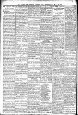 The Algona Upper Des Moines from Algona, Iowa on July 20, 1892 · Page 6