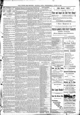The Algona Upper Des Moines from Algona, Iowa on June 10, 1891 · Page 5
