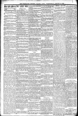 The Algona Upper Des Moines from Algona, Iowa on August 10, 1892 · Page 2