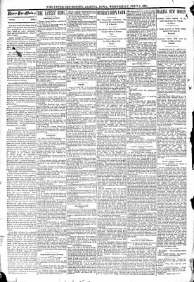 The Algona Upper Des Moines from Algona, Iowa on July 1, 1891 · Page 2