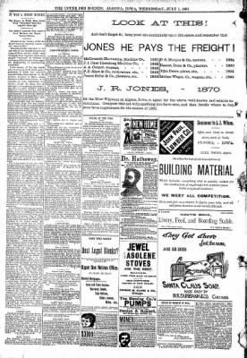 The Algona Upper Des Moines from Algona, Iowa on July 1, 1891 · Page 8