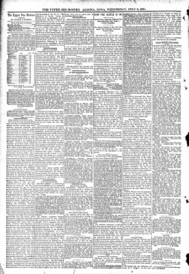 The Algona Upper Des Moines from Algona, Iowa on July 8, 1891 · Page 4