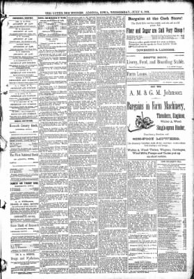 The Algona Upper Des Moines from Algona, Iowa on July 8, 1891 · Page 5