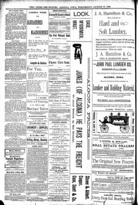 The Algona Upper Des Moines from Algona, Iowa on August 17, 1892 · Page 8