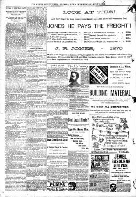 The Algona Upper Des Moines from Algona, Iowa on July 8, 1891 · Page 8