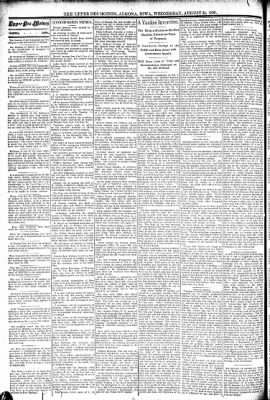 The Algona Upper Des Moines from Algona, Iowa on August 24, 1892 · Page 2