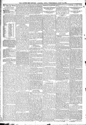 The Algona Upper Des Moines from Algona, Iowa on July 15, 1891 · Page 4