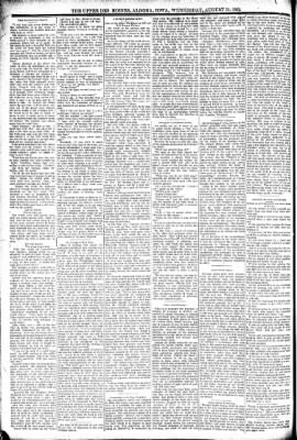 The Algona Upper Des Moines from Algona, Iowa on August 31, 1892 · Page 2