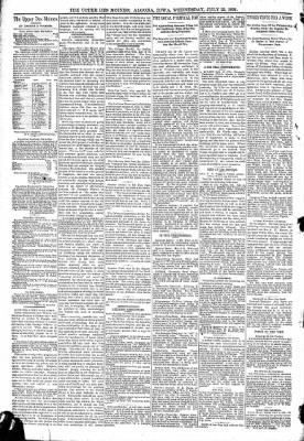 The Algona Upper Des Moines from Algona, Iowa on July 22, 1891 · Page 4