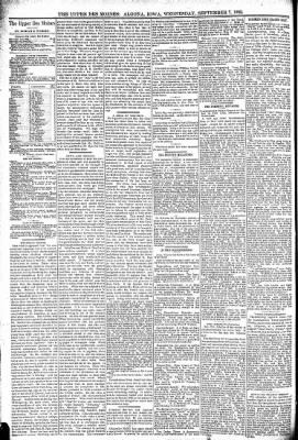 The Algona Upper Des Moines from Algona, Iowa on September 7, 1892 · Page 7