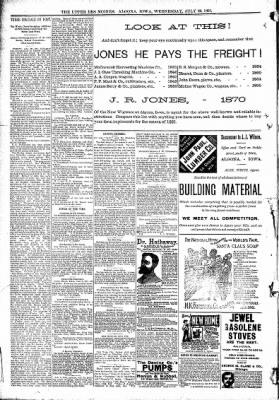 The Algona Upper Des Moines from Algona, Iowa on July 29, 1891 · Page 11