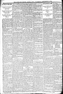The Algona Upper Des Moines from Algona, Iowa on September 14, 1892 · Page 6