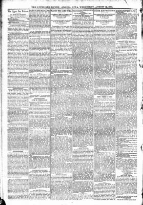 The Algona Upper Des Moines from Algona, Iowa on August 12, 1891 · Page 4