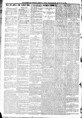 The Algona Upper Des Moines from Algona, Iowa on August 19, 1891 · Page 2