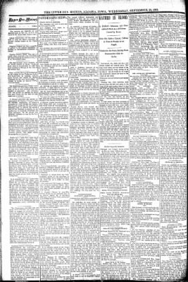 The Algona Upper Des Moines from Algona, Iowa on September 28, 1892 · Page 2