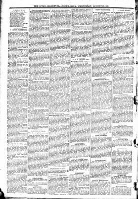 The Algona Upper Des Moines from Algona, Iowa on August 19, 1891 · Page 6