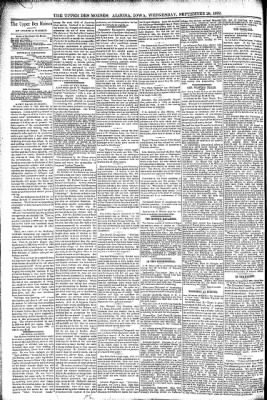 The Algona Upper Des Moines from Algona, Iowa on September 28, 1892 · Page 4
