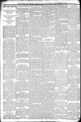 The Algona Upper Des Moines from Algona, Iowa on September 28, 1892 · Page 6