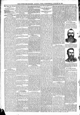 The Algona Upper Des Moines from Algona, Iowa on August 26, 1891 · Page 4