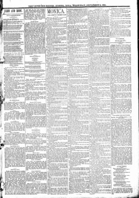 The Algona Upper Des Moines from Algona, Iowa on September 2, 1891 · Page 3