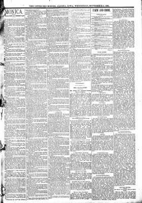The Algona Upper Des Moines from Algona, Iowa on September 9, 1891 · Page 3