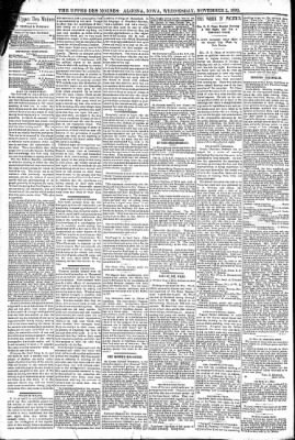 The Algona Upper Des Moines from Algona, Iowa on November 2, 1892 · Page 4