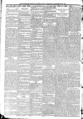 The Algona Upper Des Moines from Algona, Iowa on September 30, 1891 · Page 2