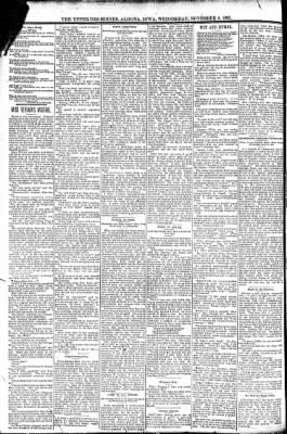 The Algona Upper Des Moines from Algona, Iowa on November 9, 1892 · Page 6