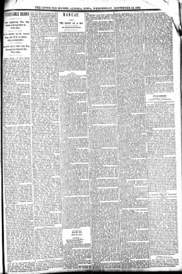 The Algona Upper Des Moines from Algona, Iowa on November 16, 1892 · Page 3