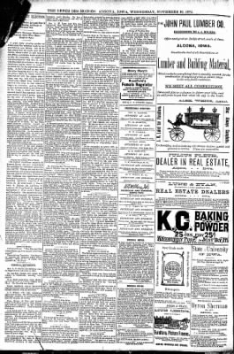 The Algona Upper Des Moines from Algona, Iowa on November 16, 1892 · Page 8