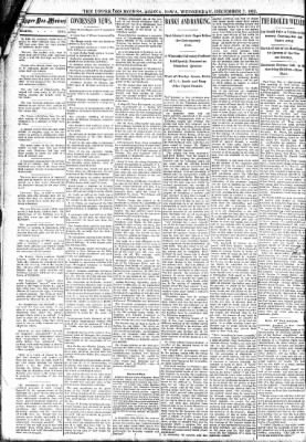 The Algona Upper Des Moines from Algona, Iowa on December 7, 1892 · Page 2