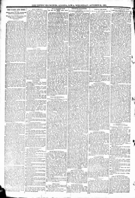 The Algona Upper Des Moines from Algona, Iowa on October 21, 1891 · Page 6