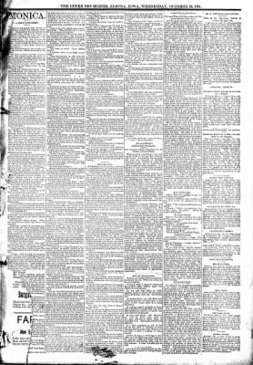 The Algona Upper Des Moines from Algona, Iowa on October 28, 1891 · Page 3
