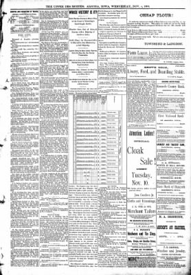 The Algona Upper Des Moines from Algona, Iowa on November 4, 1891 · Page 5